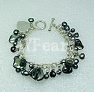 Wholesale pearl crystal shell bracelet