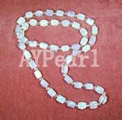 opal white crystal necklace