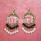 Wholesale garnet rose quartz earrings