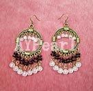 Wholesale garnet rose quartz earrings
