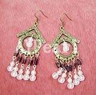 Wholesale rose quartz garnet earring