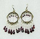 Wholesale pearl garnet earring