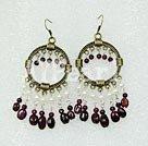 Wholesale pearl garnet earring