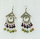Wholesale garnet stone earrings