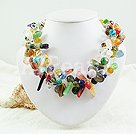 multi-stone crystal necklace