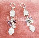 Wholesale rose quartz crystal earrings