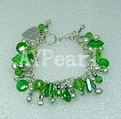 Wholesale pearl crystal shell bracelet