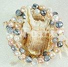 3-colorate perla brăţară