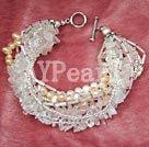 Wholesale colored pearl bracelet