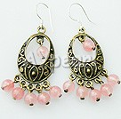 Wholesale earring-cherry quartz earrings
