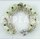granat pärla armband