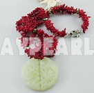 Discount coral pearl necklace