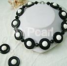 Wholesale gem black agate set
