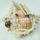 Wholesale pearl smoky quartz bracelet