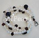 pärla granat blå pärla armband