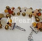 Wholesale Gemstone Jewelry-agate pearl bracelet