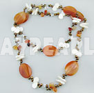 Wholesale pearl agate shell necklace