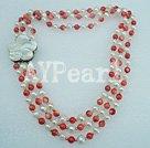 pärla korall halsband