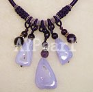 blue agate amethyst necklace