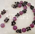 Wholesale Brazil agate garnet necklace