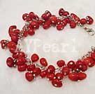Wholesale Red coral brecelet