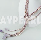Wholesale dyed pearl necklace