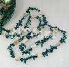 Wholesale dyed pearl shell necklace