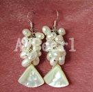 Wholesale pearl shell earring