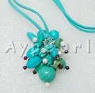 turquoise garnet necklace