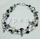 Wholesale Biwa pearl crystal necklace