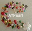färgstarka pärla korall armband