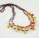 Wholesale garnet agate necklace