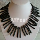 Wholesale black sponge coral necklace