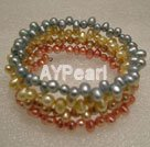 Wholesale Dyed pearl bracelet
