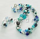 Wholesale pearl crystal turquoise set