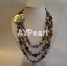 Wholesale black pearl India carnelian necklace