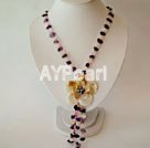 Wholesale Amethyst Rose quartz shell necklace