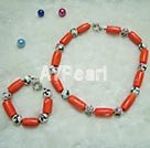 Wholesale cloisonne coral set