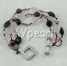 Wholesale black pink crystal bracelet