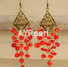 röda koraller örhänge
