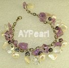 Wholesale amethyst shell bracelet