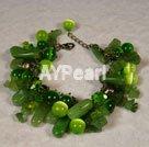 grön kristall armband