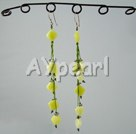 Wholesale lemon stone earrings