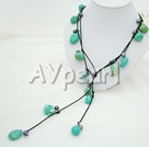 black pearl turquoise necklace