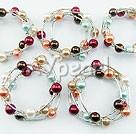 Wholesale Acrylic manmade pearl bracelet (5 PCS)