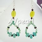 Wholesale earring-blue jade earring