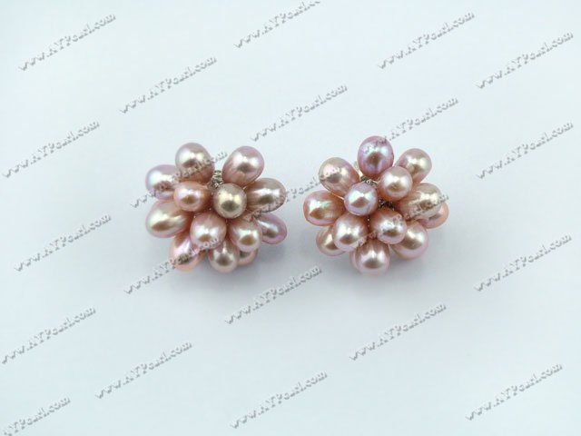 lotus pearl earrings