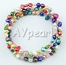 Multi-colorat perla brăţară