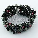 Pearl crystal multi stone bracelet