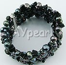Wholesale Pearl black stone bracelet